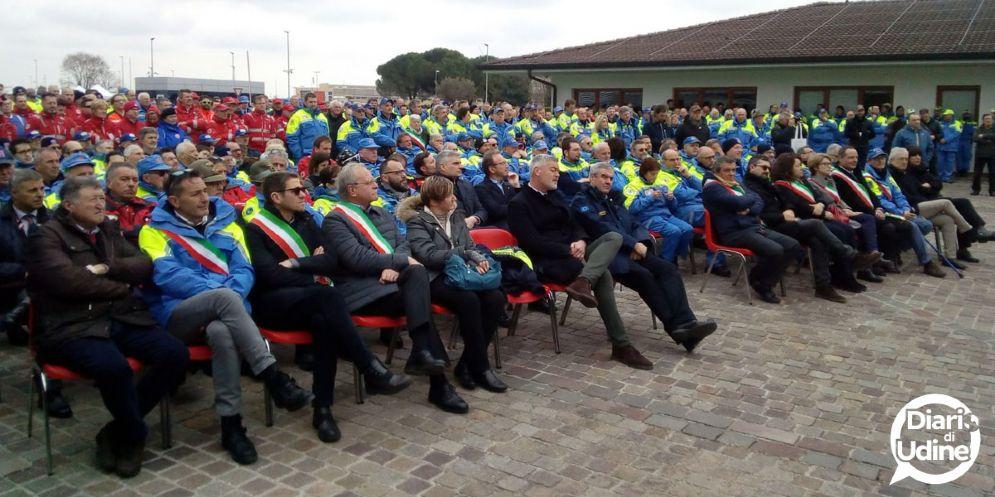 Borrelli: «La macchina della Protezione Civile in Fvg è all'avanguardia»