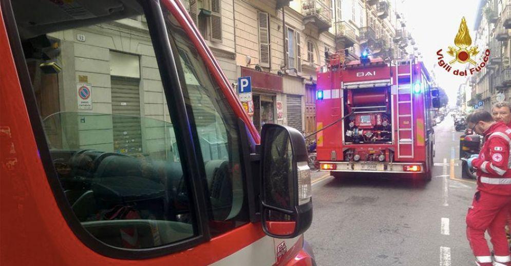 Intervento dei pompieri