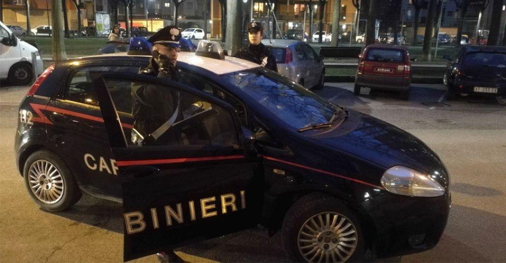 I carabinieri impegnati nelle indagini
