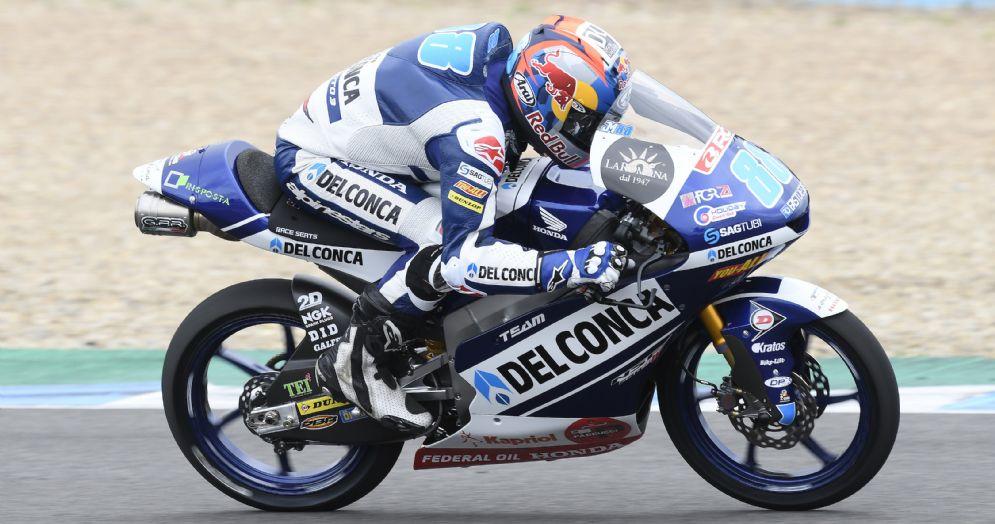 Jorge Martin in sella alla Honda del team Gresini Moto3