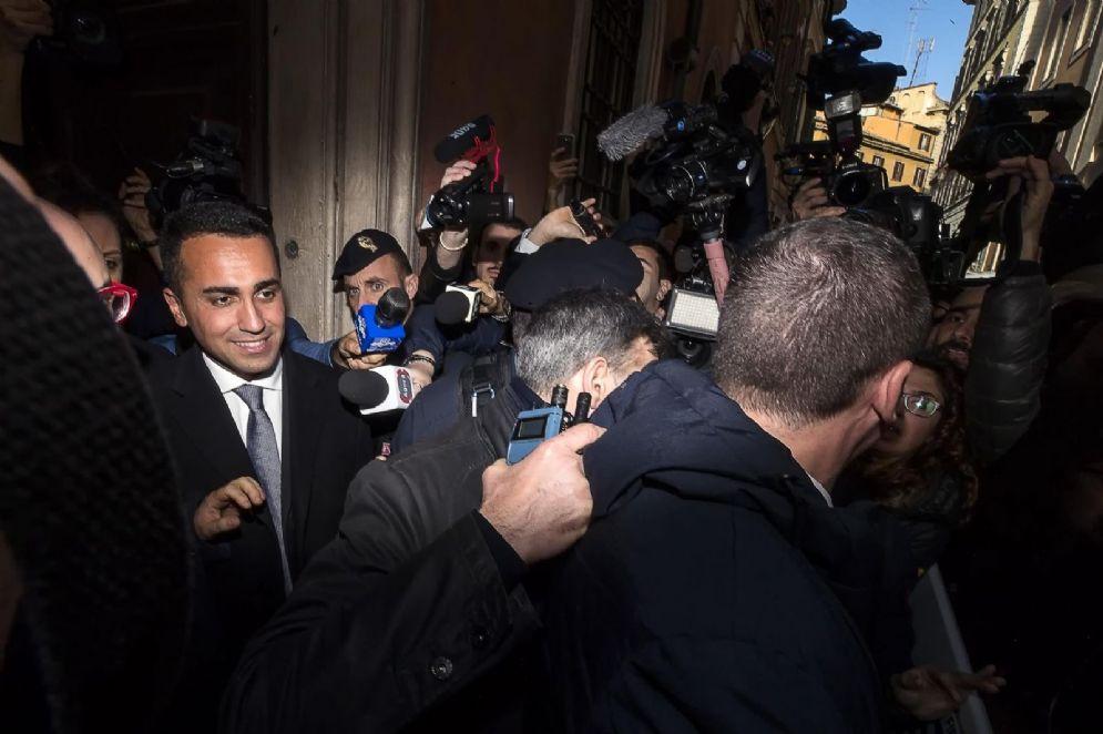 Il candidato premier del M5s, Luigi Di Maio alla stampa estera a Roma