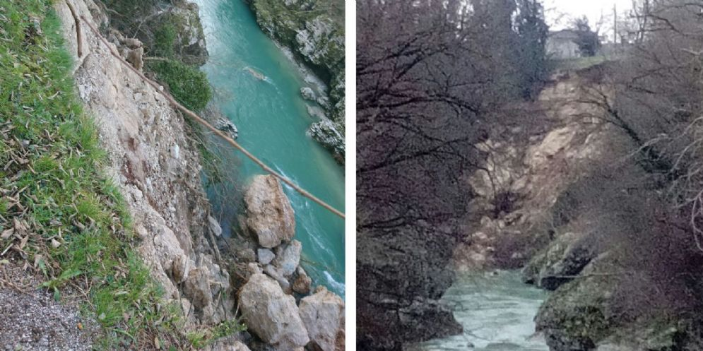 Smottamento a Premariacco: bloccata la strada poderale verso Paderno