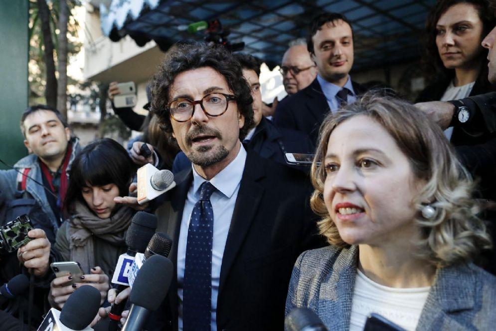 I capigruppo M5s alla Camera e al Senato Danilo Toninelli e Giulia Grillo