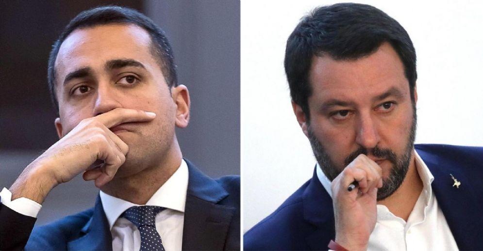 Il candidato premier M5s Luigi Di Maio e il leader della Lega Matteo Salvini