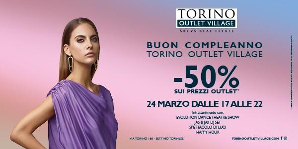 Torino Outlet Village compie un anno: le iniziative