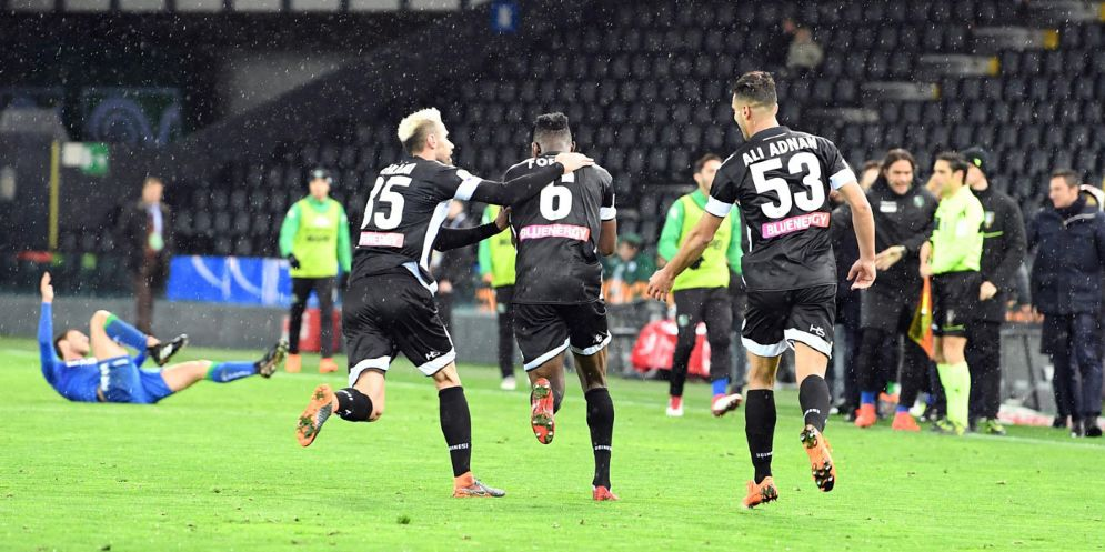 L'Udinese incassa la quinta sconfitta consecutiva: al Friuli passa il Sassuolo