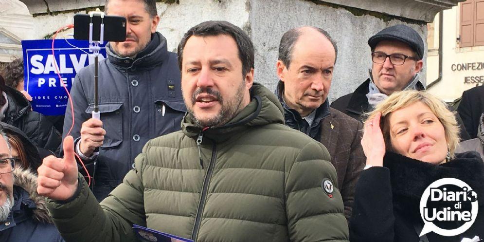 Salvini arriva in Fvg: vertice blindato a Reana per fare chiarezza su Tondo