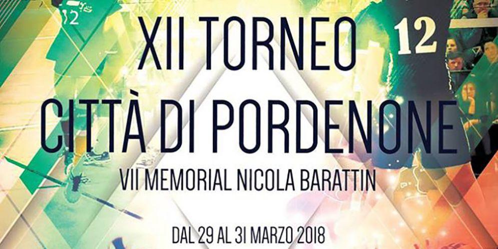 """Si rinnova l'appuntamento con il """"Torneo Internazionale Città di Pordenone – 7° Memorial Nicola Barattin"""""""