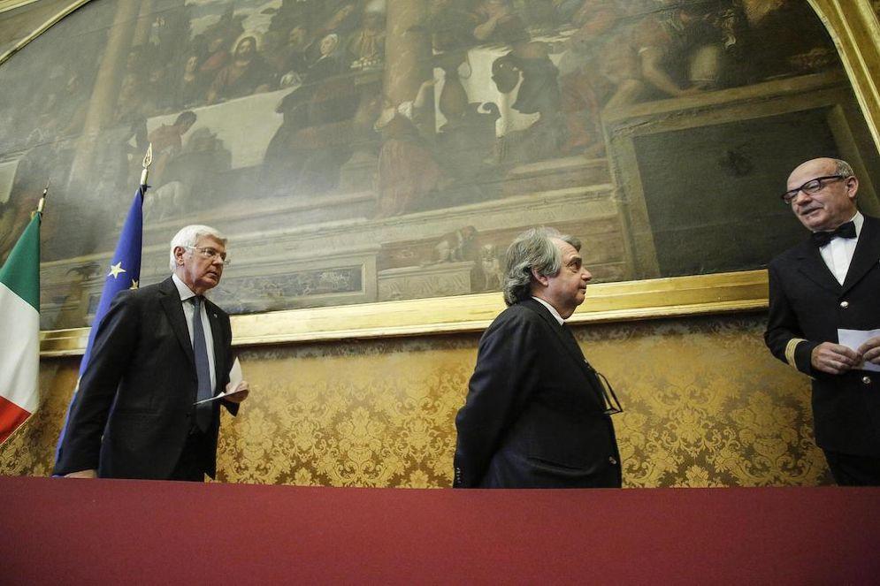Paolo Romani e Renato Brunetta di Forza Italia.