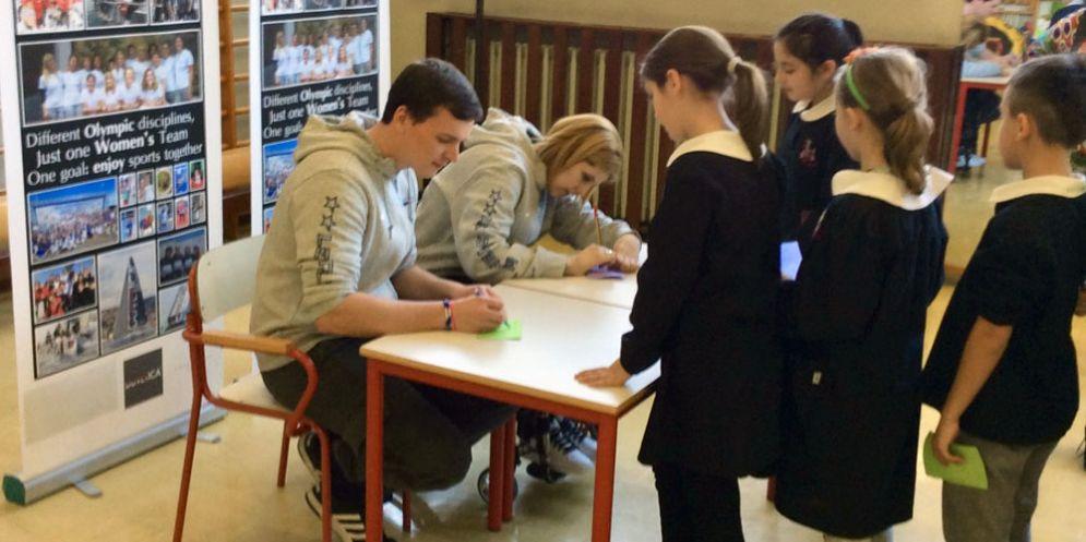 Giada Rossi e Viviano Mior alle prese con gli autografi