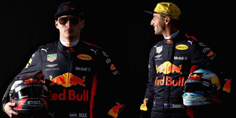 Max Verstappen e Daniel Ricciardo, i due piloti della Red Bull