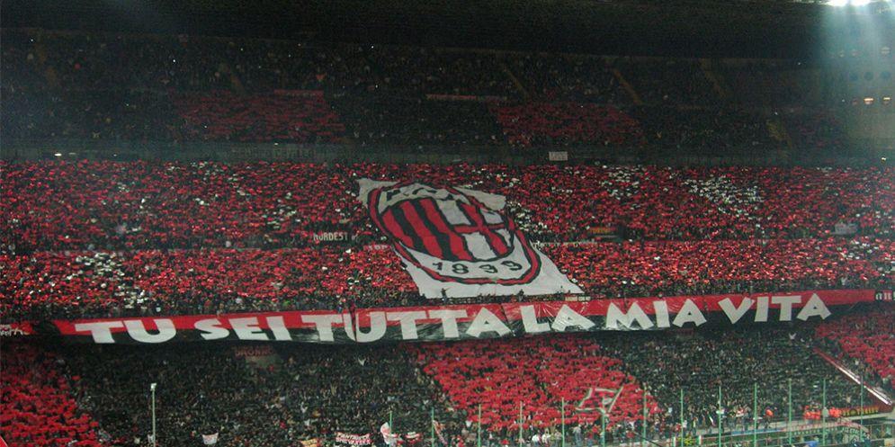 Un'immagine della Curva Sud del Milan