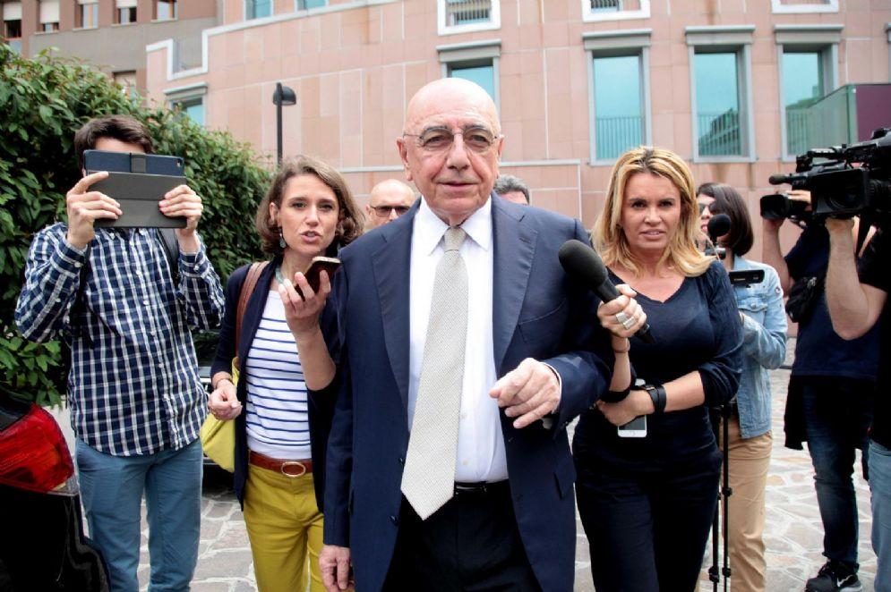 Adriano Galliani, ex amministratore delegato del Milan, attualmente in politica nelle fila di Forza Italia