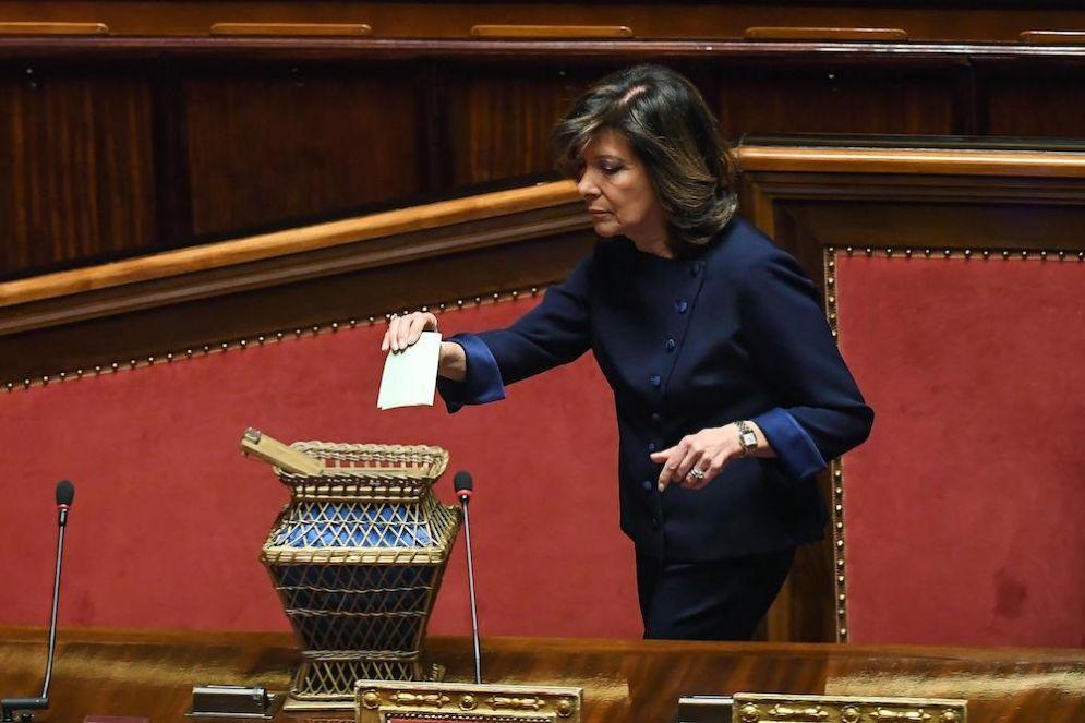 La presidente del Senato Maria Elisabetta Alberti Casellati