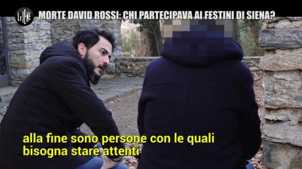 Un frame del servizio di Antonino Monteleone (Le Iene) sulla morte di David Rossi