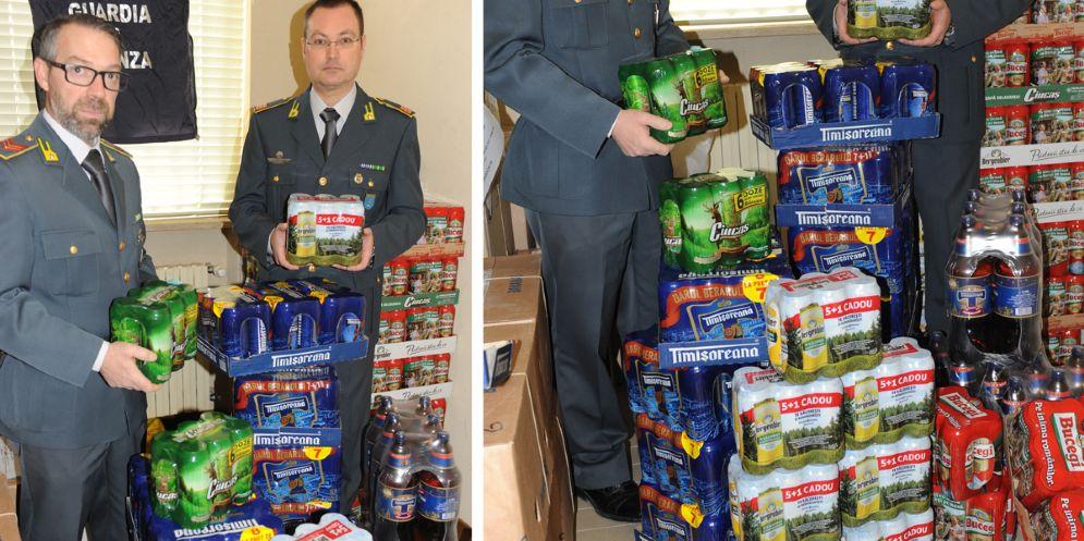 Scoperto un trasporto abusivo di 576 litri di birra di contrabbando