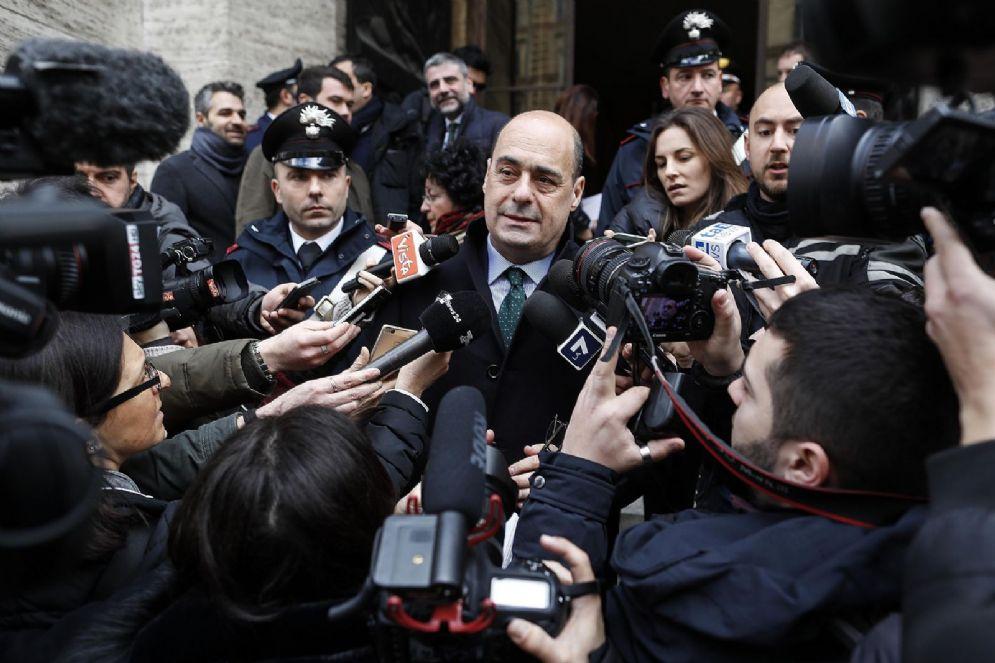 Nicola Zingaretti al termine della firma del protocollo d'intesa per Roma Capitale, Ministero dello Sviluppo Economico