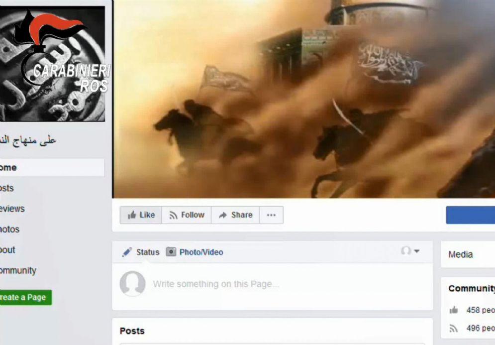 Un fermo immagine tratto da un video dei Carabinieri mostra un momento dell'operazione che ha portato all'arresto di un cittadino marocchino sospettato di terrorismo