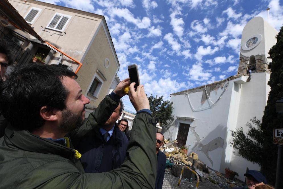 Matteo Salvini a Ischia.