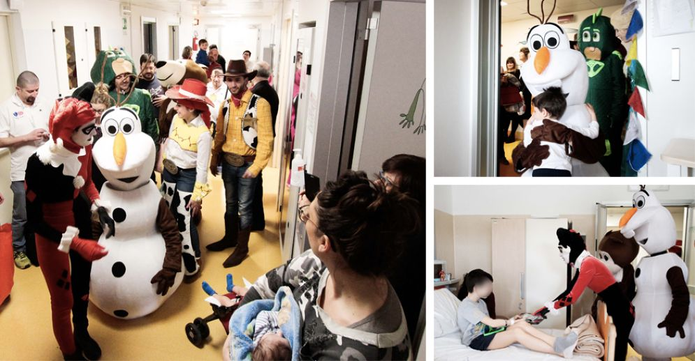 I cosplayer in ospedale