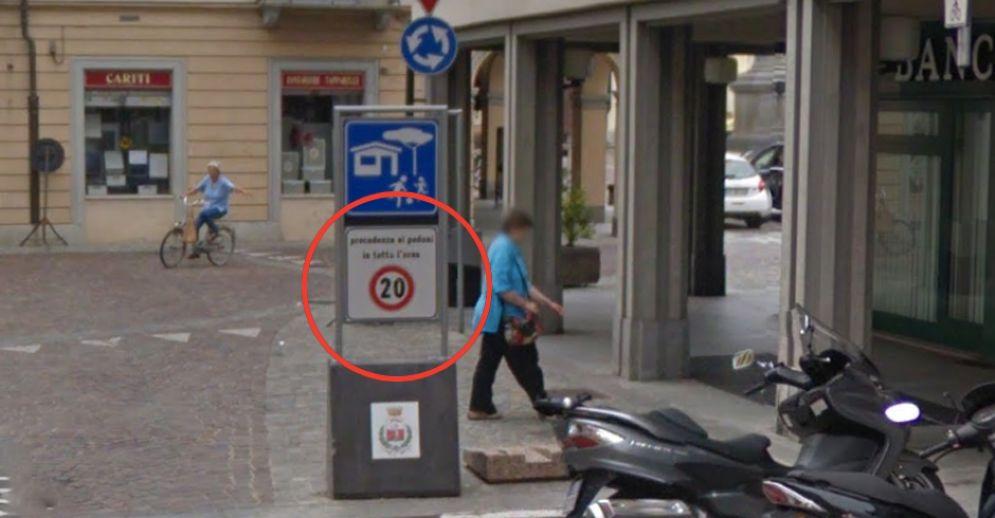 L'autovelox a Carignano