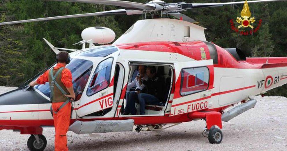 L'elicottero, Drago, dei Vigili del Fuoco
