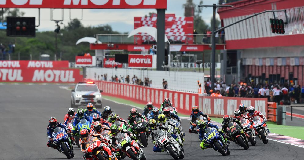 La partenza del Gran Premio d'Argentina 2017 di MotoGP