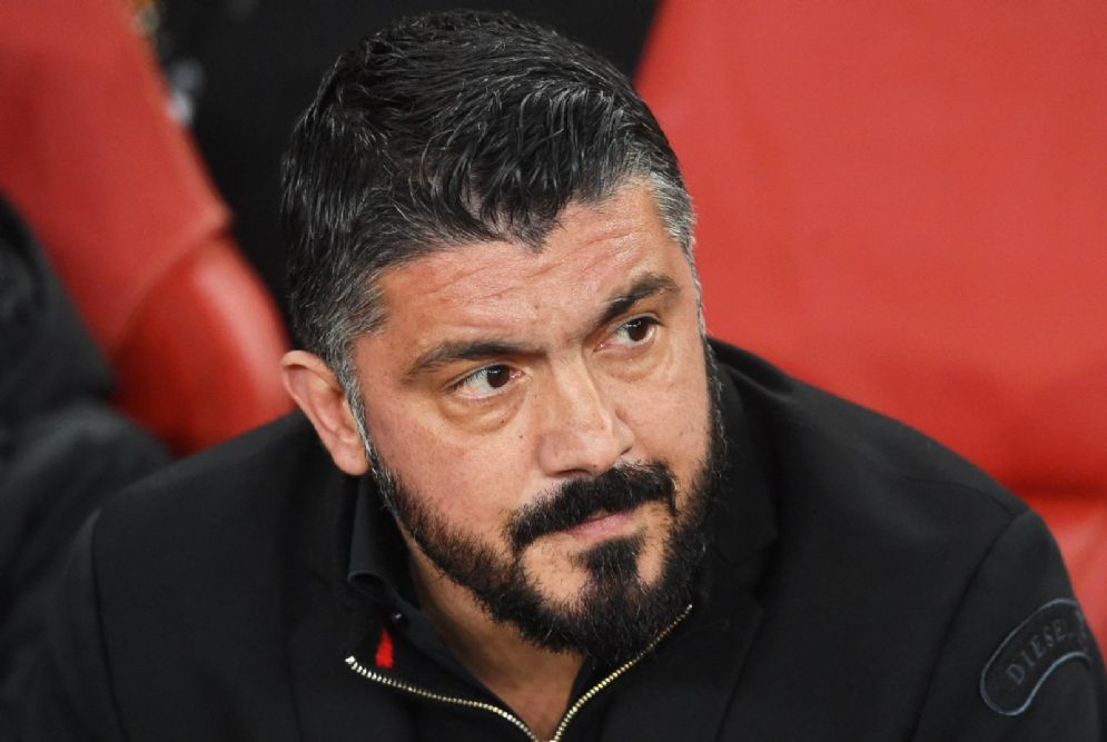 L'allenatore del Milan Gennaro Gattuso