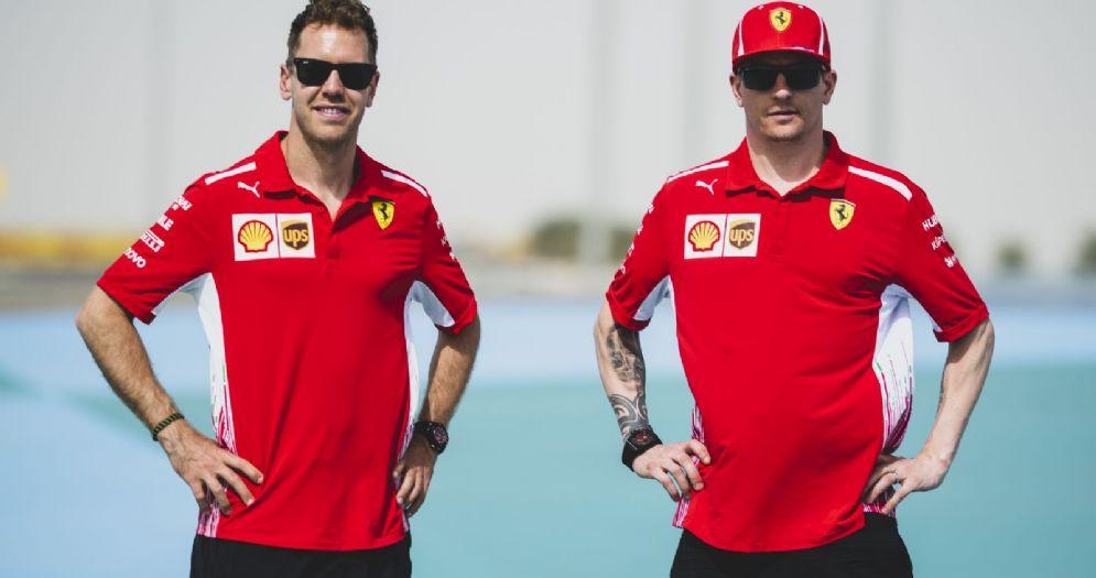 Sebastian Vettel e Kimi Raikkonen in Bahrein