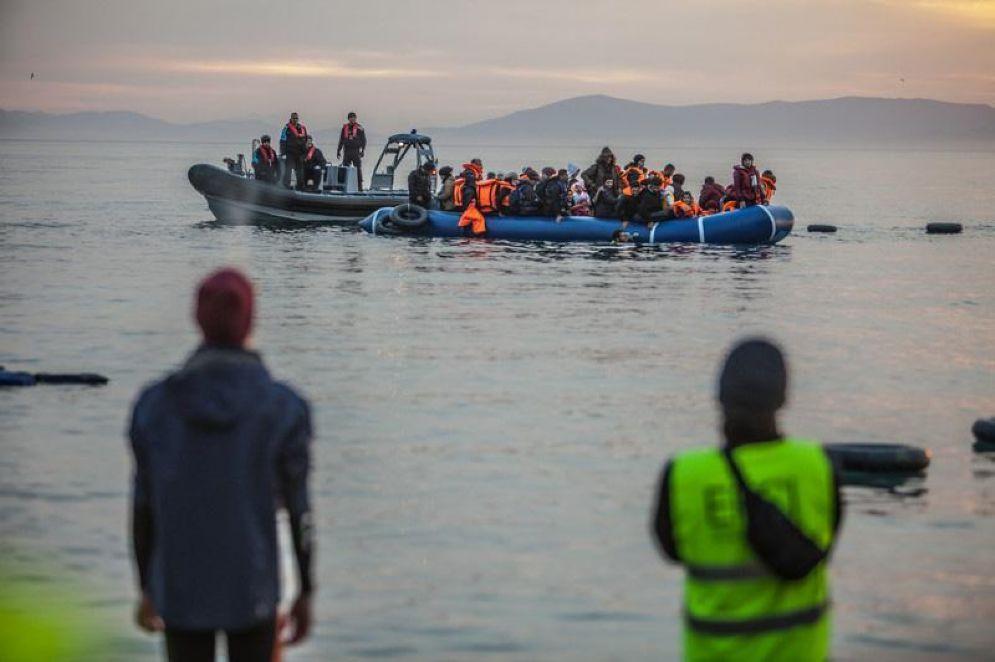 Migranti appena sbarcati in Grecia dalla Turchia
