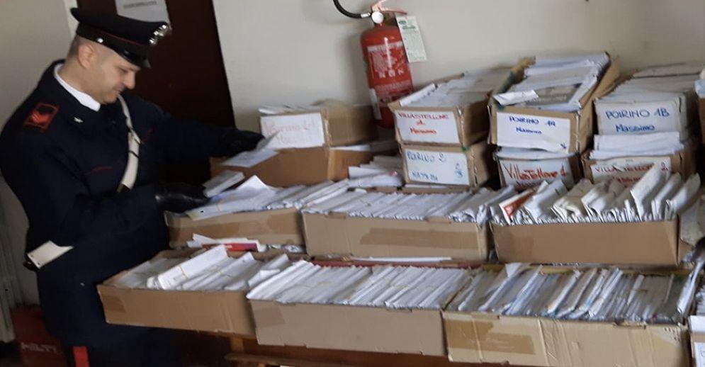 La posta non consegnata dall'uomo