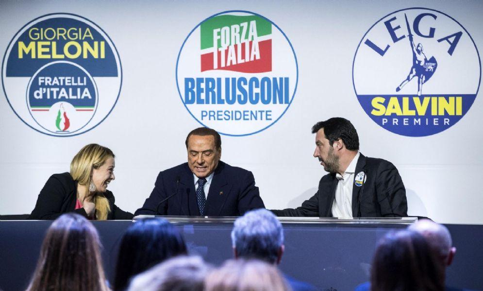 I tre leader del Centrodestra: la coalizione potrebbe andare insieme da Mattarella nel prossimo giro di consultazioni