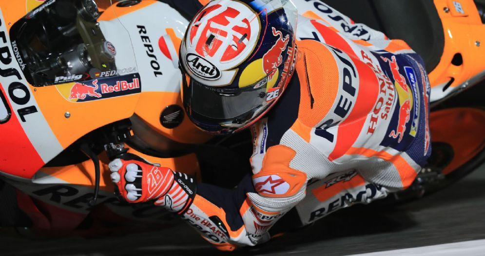 Dani Pedrosa in sella alla sua Honda
