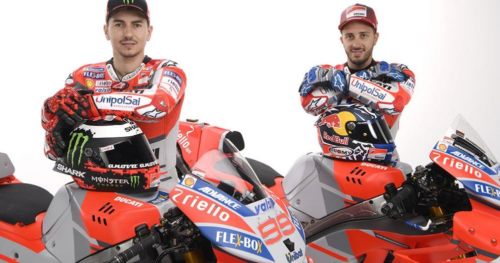 I due piloti della Ducati, Jorge Lorenzo e Andrea Dovizioso