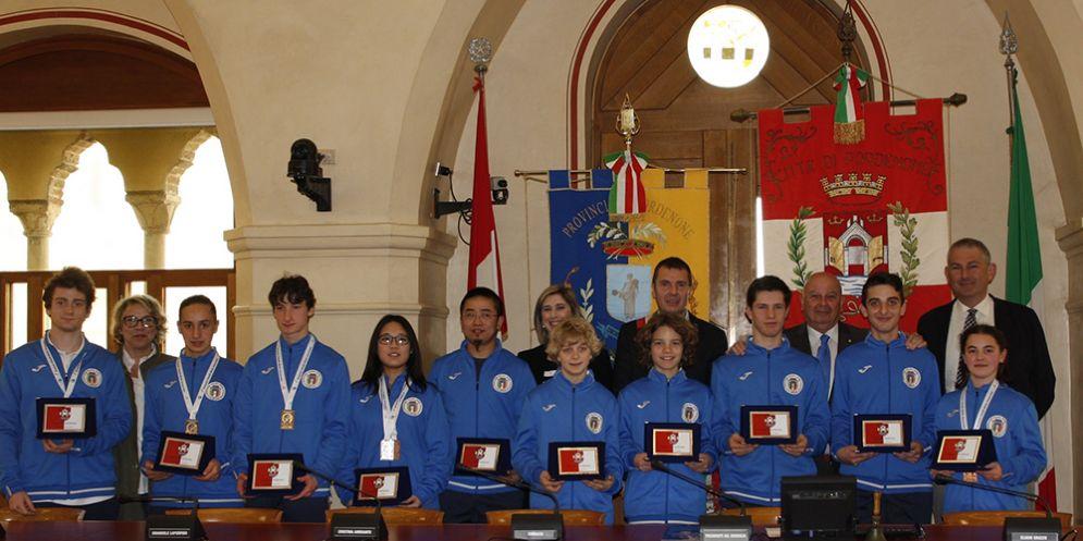 Pordenone, il Comune premia i campioni pordenonesi di Wushu