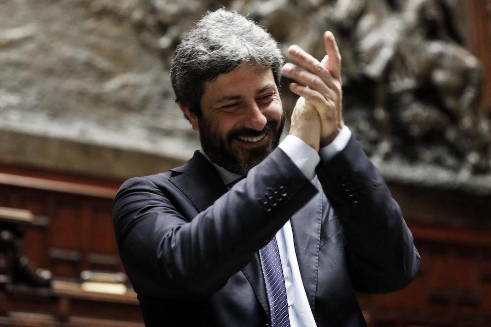 """Il presidente della Camera Roberto Fico durante l'iniziativa """"Montecitorio Porte Aperte"""""""