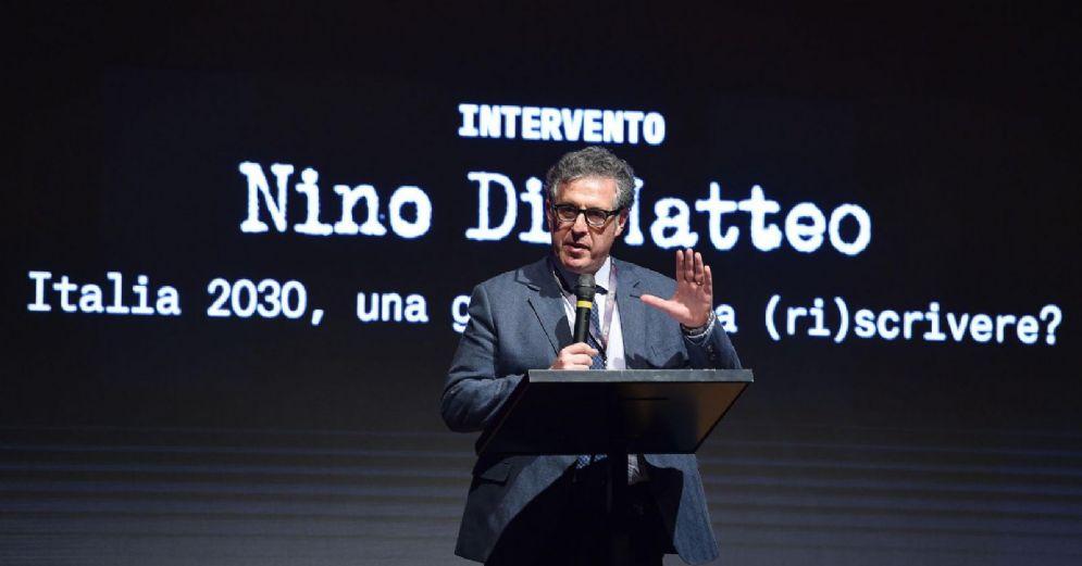 """Nino Di Matteo interviene durante il convegno """"SUM #02 Capire il Futuro"""" del M5S presso l'associazione Gianroberto Casaleggio a Ivrea"""