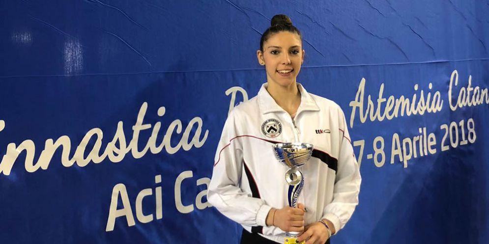 Ritmica: Beatrice Pilosio (Asu) primo posto ai nazionali di specialità