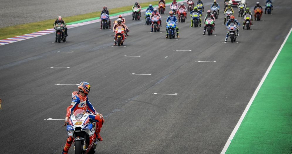Jack Miller solitario in pole position sulla griglia di partenza del GP d'Argentina di MotoGP