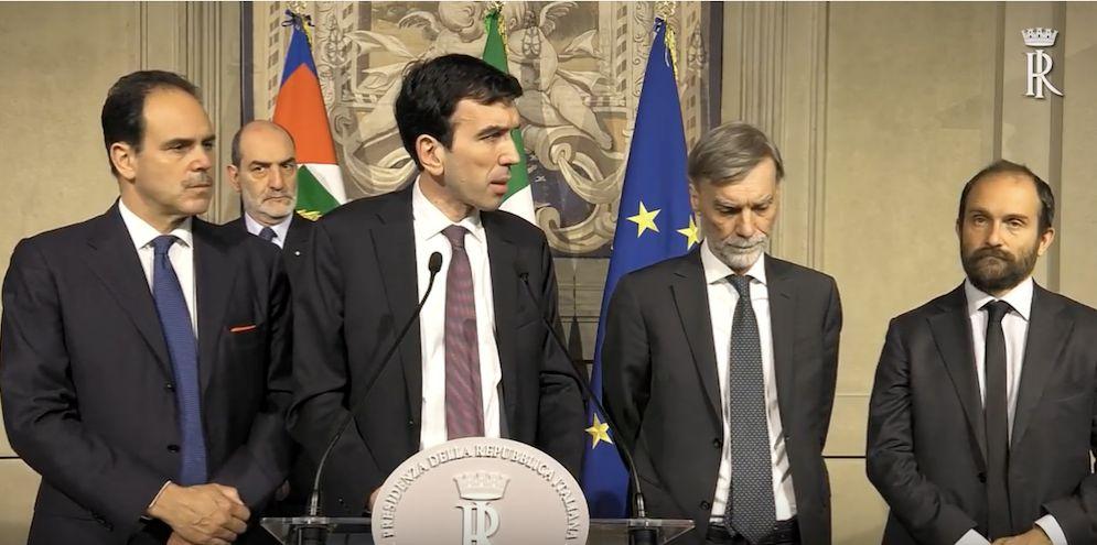 Maurizio Martina alle consultazioni.