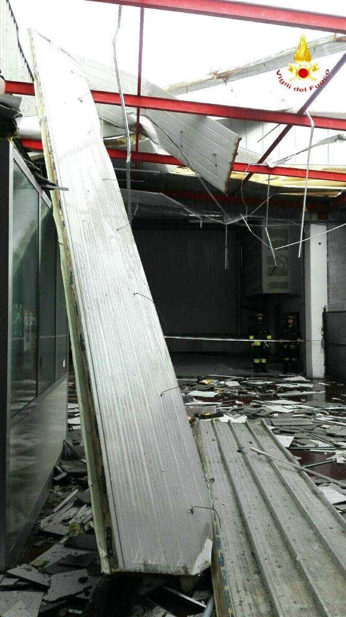 I danni del vento oggi a Valdengo