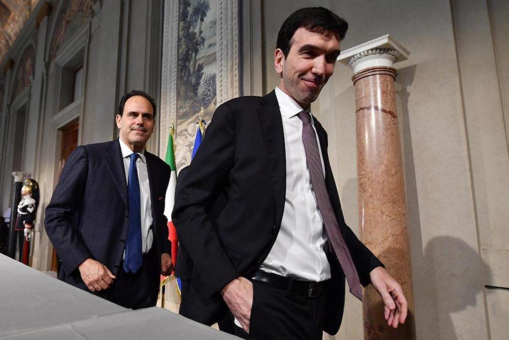 Maurizio Martina e Andrea Marcucci alle consultazioni