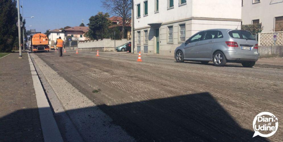 Lavori di asfaltatura in città