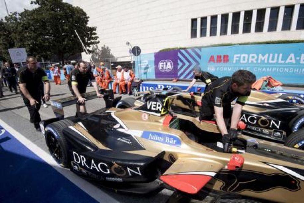 Un'immagine del Gran Premio di Formula E che si è svolto oggi per la prima volta a Roma