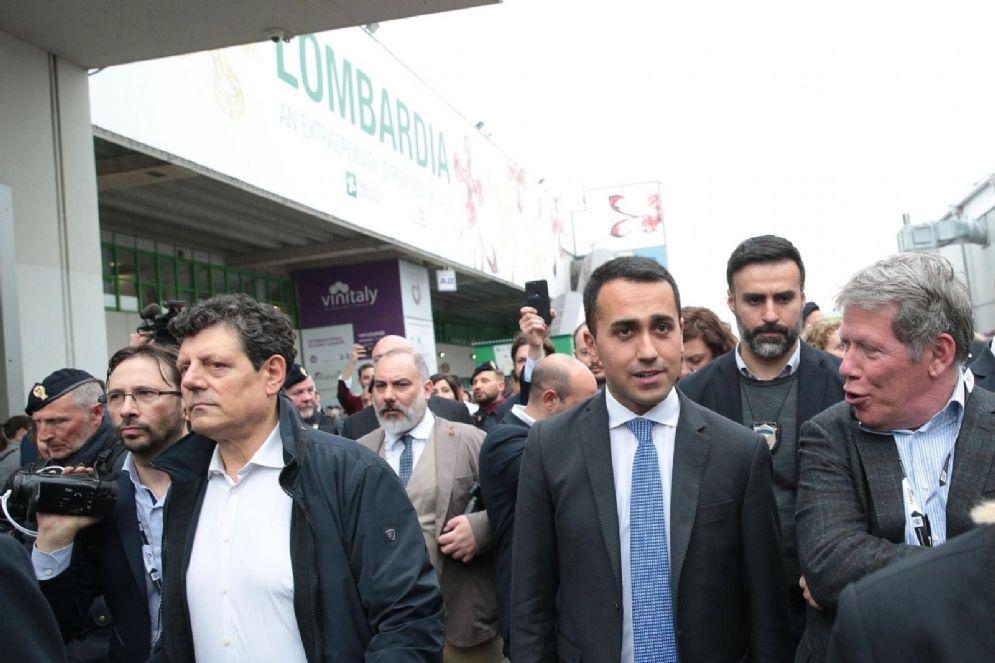 Il leader del M5s Luigi Di Maio a Verona per l'inaugurazione di Vinitaly