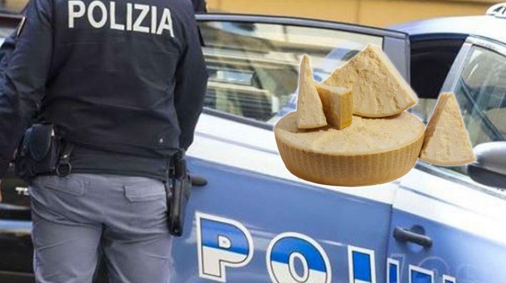 I ladri volevano portare via del parmigiano