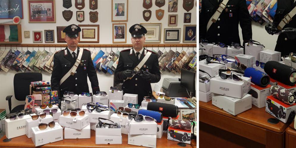 Merce contraffatta: maxi sequestro dei carabinieri a Pradamano