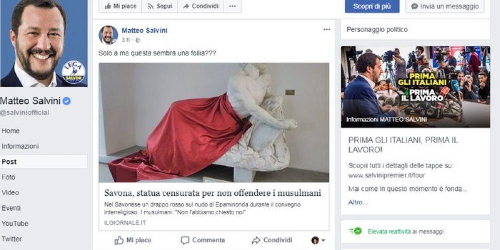 Il twit di Matteo Salvini