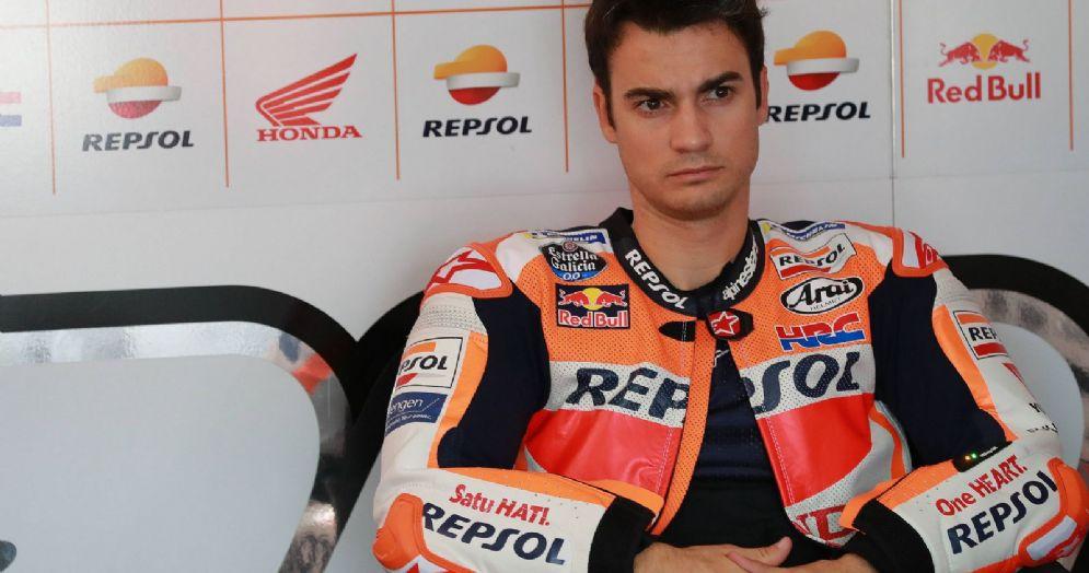 Dani Pedrosa nel box della Honda