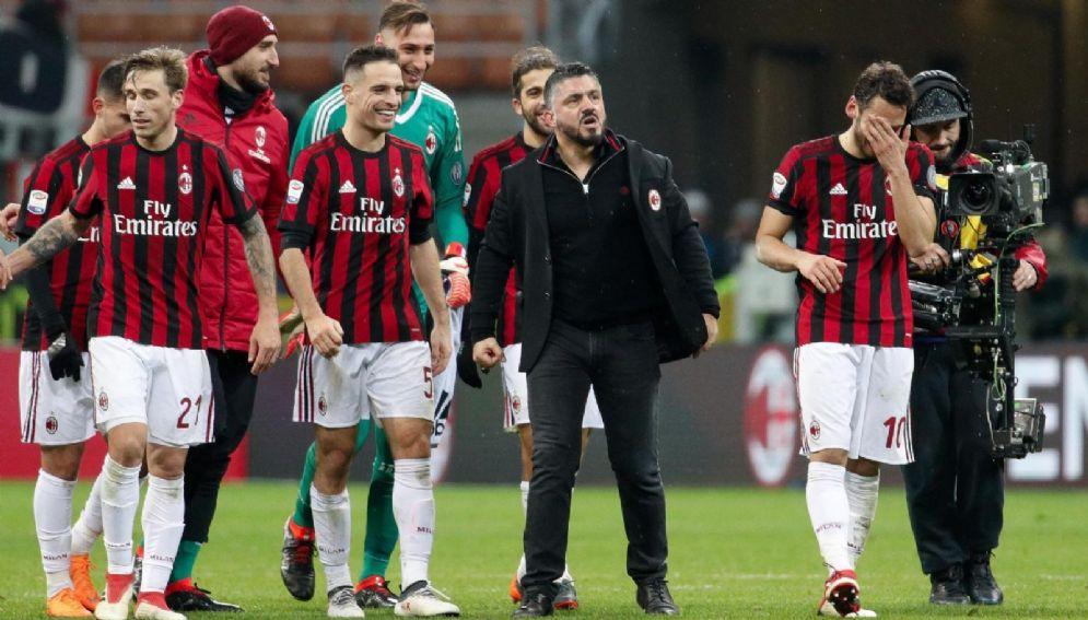 Gattuso esulta con i suoi calciatori